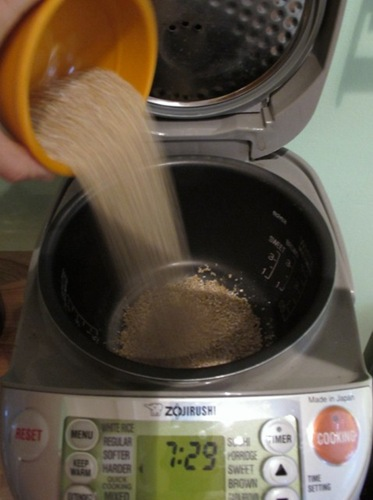 how to cook porridge in a rice cooker