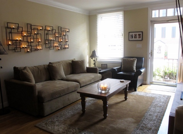Wall Sconces Over Couch : Home Makeover: Front Burner Edition. - Daily Garnish