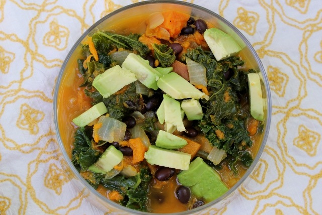 Kale and Roasted Vegetable Soup: The Video. – Daily Garnish