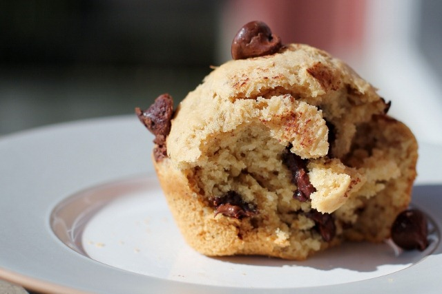 Chocolate chip muffins recipe with butter