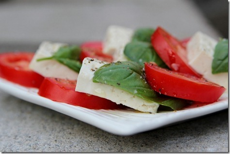 Vegan Caprese Salad via Daily Garnish
