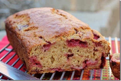 Strawberry Banana Bread by Daily Garnish