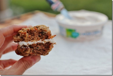 Vegan Carrot Cake Cream Cheese Whoopie Pies by Daily Garnish