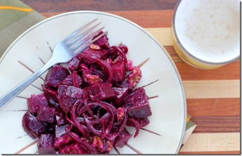 Roasted Beet & Walnut Salad by Daily Garnish