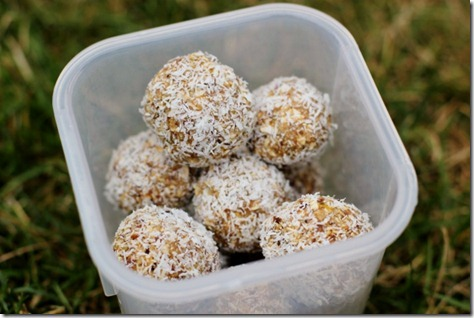 Coconut Date Energy Bites by Daily Garnish