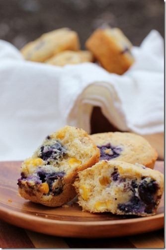 Fresh Blueberry Corn Muffins by Daily Garnish