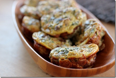 Mini Mushroom & Egg Frittata Muffins by Daily Garnish