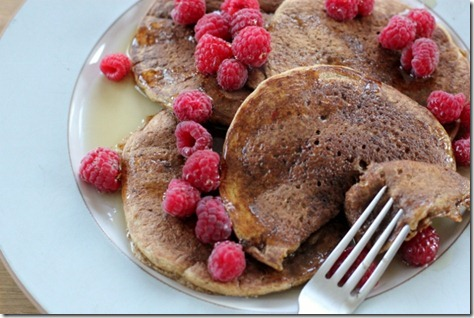 Vegan Pumpkin Pancakes by Daily Garnish