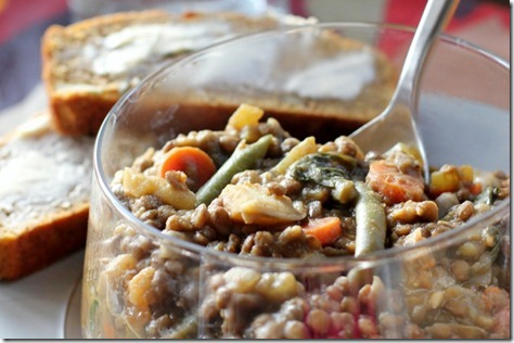 Hearty Lentil Vegetable Soup by Daily Garnish