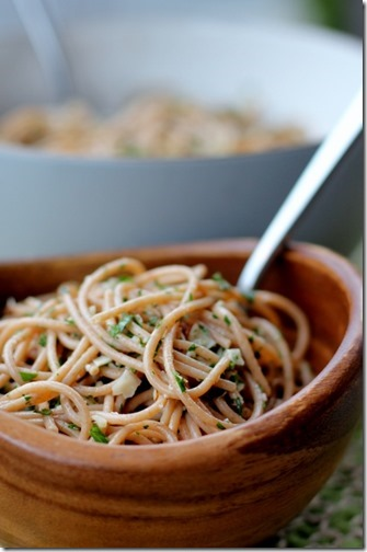 Lemon Parsley Pasta Salad by Daily Garnish