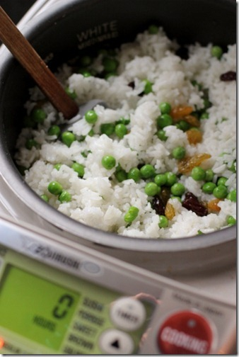 Simple 5-Minute Rice Cooker Meal: Jasmine Rice & Peas by Daily Garnish