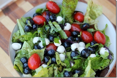 Red, White, and Blueberry Caprese Salad by Daily Garnish