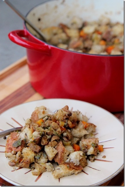 Vegan Field Roast & Mushroom Stuffing by Daily Garnish