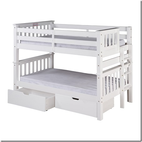 Spectacular I like how they can be separated into two beds if we wanted to start out that way and also the drawers underneath would be critical for the boys to share