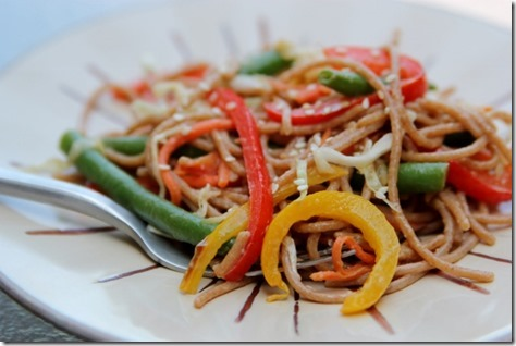 Crunchy Vegetable Sesame Noodle Salad by Daily Garnish