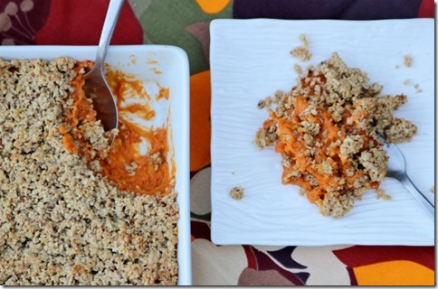 Vegan Coconut Sweet Potato Casserole by Daily Garnish