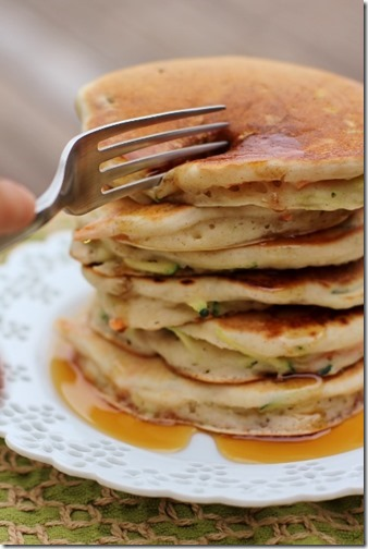 Fluffy Summer Vegetable Pancakes by Daily Garnish