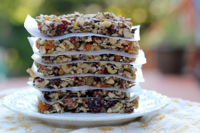 Daily Garnish » Blog Archive » Homemade Fruit and Nut Bars.